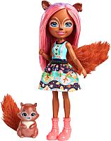 Кукла с аксессуарами Mattel Enchantimals Санча Белочка с питомцем / FMT61 -