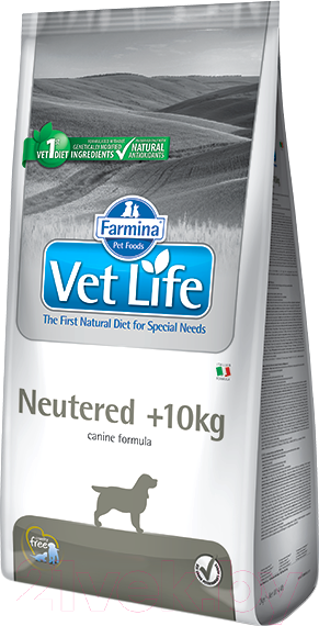 Купить Корм для собак Farmina, Vet Life Neutered Dog >10кг (12кг), Италия