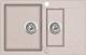 Мойка кухонная Teka Clivo 60 B-TQ / 40148023 (песочный бежевый) -