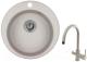 Мойка кухонная Granula GR-4801 + смеситель Spring 35-09L (базальт) -