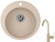 Мойка кухонная Granula GR-4801 + смеситель 35-05 (песок) -