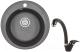 Мойка кухонная Granula GR-4802 + смеситель 40-03 (черный) -
