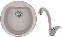 Мойка кухонная Granula GR-5101 + смеситель GR-4003 (антик) -