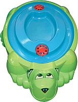 Песочница-бассейн PalPlay Собачка 432 с крышкой (зеленый/голубой) -