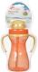 Поильник Sun Delight 33936 с трубочкой (290мл, оранжевый) -