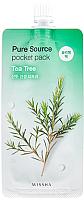 Маска для лица гелевая Missha Pure Source Pocket Pack Tea Tree ночная (10мл) -