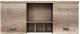 Шкаф навесной Black Red White Malcolm S325-SFW2D (дуб каньон монумент/вольфрам) -