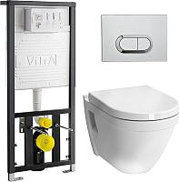 Унитаз подвесной с инсталляцией VitrA S50 / 9003B003-7201 -