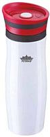 Термокружка Peterhof PH-12413 (белый/красный) -