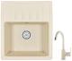 Мойка кухонная Granula GR-5803 + смеситель 35-05 (брют) -