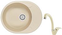 Мойка кухонная Granula GR-6301 + смеситель 40-03 (брют) -