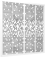 Стеклянная шторка для ванны Triton Мозаика 170x147.5 -