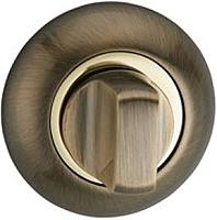 Фиксатор дверной защелки Lockit Круглая AB/GP -
