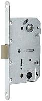 Защелка врезная с фиксацией Arni 410В CP квадратная (пластик) -