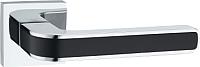Ручка дверная Lockit Рико AL PC/Black / A1549Е -