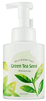 Пенка для умывания Missha Micro Bubble Foam Green Tea Seed (250мл) -
