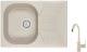 Мойка кухонная Granula GR-7002 + смеситель 35-05 (пирит) -