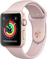 Умные часы Apple Watch Series 3 42mm / MQL22 (алюминий золото/розовый) -