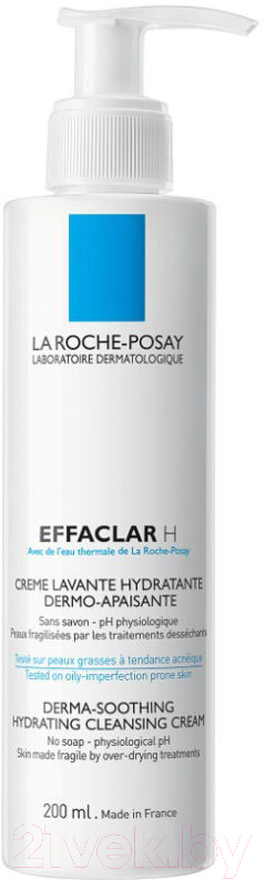 Купить Крем для умывания La Roche-Posay, Effaclar H очищающий для проблемной кожи (200мл), Франция, Effaclar (La Roche-Posay)