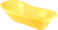 Ванночка детская Пластишка С клапаном для слива воды 431301306 (желтый) -