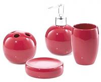 Набор аксессуаров для ванной Bisk Mela 03035 (красный) -