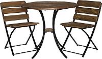 Комплект садовой мебели Timb Шале 1+2 (кофейный/орех) -