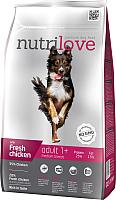 Корм для собак Nutrilove Adult Medium Breed Chicken (8кг) -