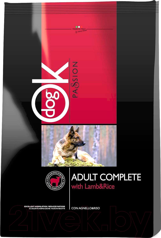 Купить Корм для собак Ok Passion, Adult Complete Lamb&Rice (12.5кг), Италия