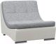 Кресло мягкое Woodcraft Монреаль (серая рогожка/белый кожзам) -