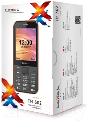 Мобильный телефон Texet TM-302 (черный)