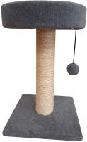 Лежанка-когтеточка Cat House 0.55 (сизаль серый) -
