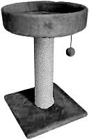 Лежанка-когтеточка Cat House 0.55 (джут серый) -
