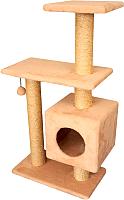 Комплекс для кошек Cat House Буран 1.06 (сизаль бежевый) -