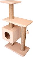 Комплекс для кошек Cat House Буран 1.06 (джут бежевый) -
