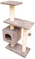Комплекс для кошек Cat House Буран 1.06 (хлопок серый) -