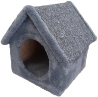 Домик-когтеточка Cat House Будка 0.38 (серый) -