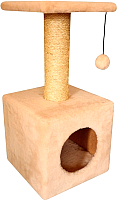 Комплекс для кошек Cat House 0.65 (сизаль бежевый) -