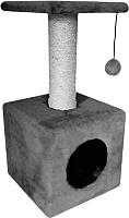 Комплекс для кошек Cat House 0.65 (сизаль серый) -