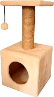 Комплекс для кошек Cat House 0.65 (джут бежевый) -