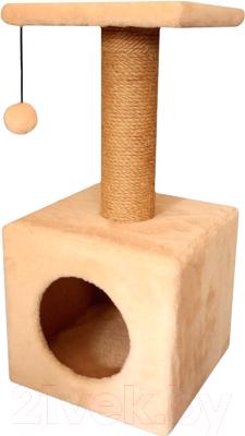 Комплекс для кошек Cat House 0.65 (джут бежевый)