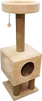 Домик-когтеточка Cat House На ножках 1.05 (джут бежевый) -