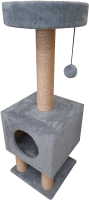 Комплекс для кошек Cat House На ножках 1.05 (джут серый) -
