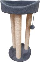 Лежанка-когтеточка Cat House Тринога 0.85 (сизаль серый) -