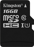 Карта памяти Kingston Canvas Select microSDHC CL10 UHS-I 16GB (SDCS/16GBSP) -