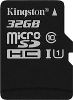 Карта памяти Kingston Canvas Select microSDHC CL10 UHS-I 32GB (SDCS/32GBSP) -