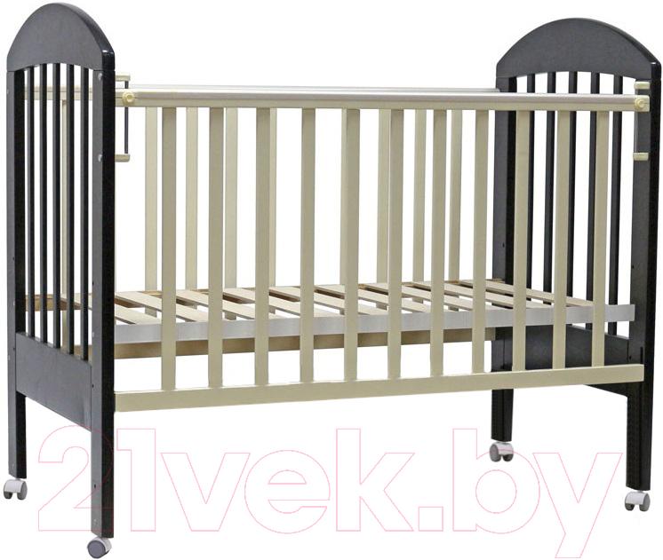 Купить Детская кроватка Топотушки, Дарина-1 / 33 (венге/слоновая кость), Россия, массив дерева