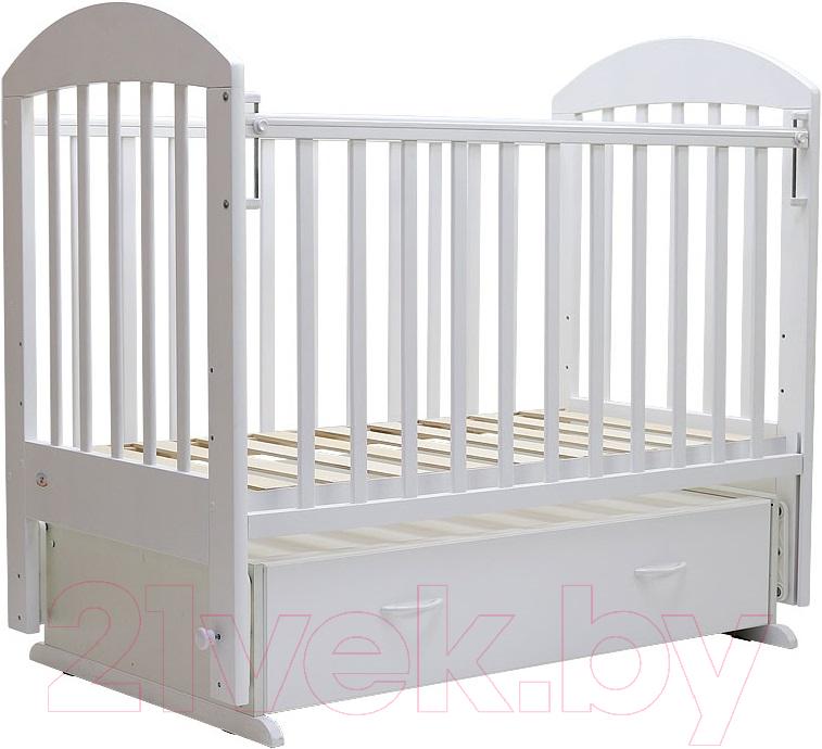 Купить Детская кроватка Топотушки, Дарина-6 / 03 (белый), Россия, массив дерева