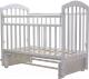 Детская кроватка Топотушки Лира-5 / 32 (белый) -