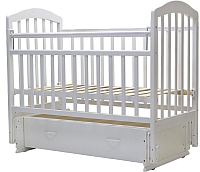 Детская кроватка Топотушки Лира-7 / 30 (белый) -