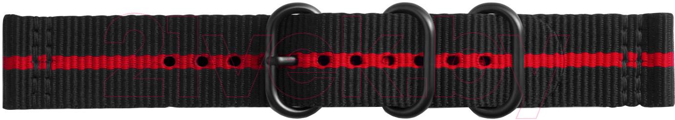 Купить Ремешок для умных часов Samsung, Gear Sport Premium Nato / GP-R600BREECAI (черный красный), Россия